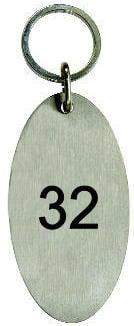 hotelschlüsselanhänger edelstahl oval 85 mm